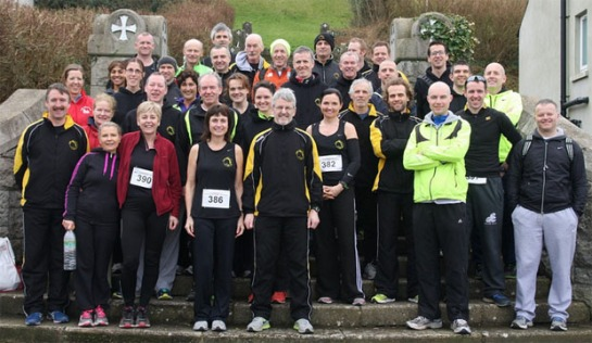 Roughly half of the 82 Eagle AC members that took part in the 2014 Ballycotton 10