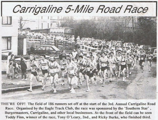 Carrigaline 5 mile road race...1988