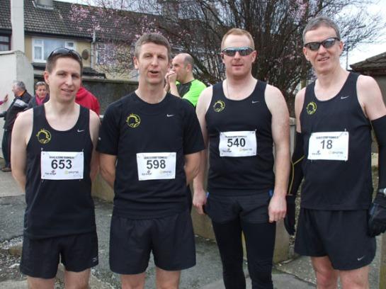 Eagle AC members Alan O'Brien, Pat King, John McCarthy & Ronan Boland...Pic : Mick Dooley