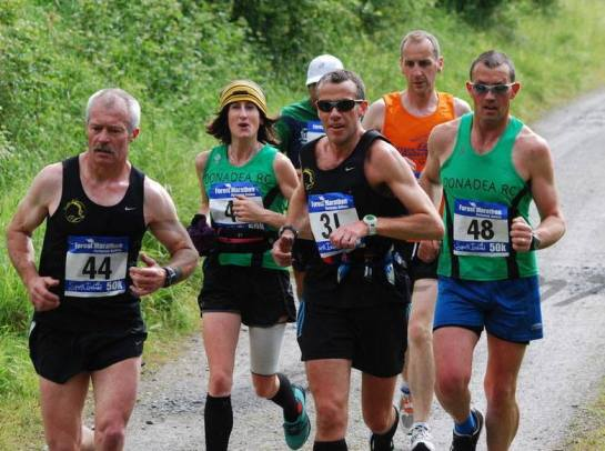Charlie Byrd and Denis Looney in the 50 km Ultra