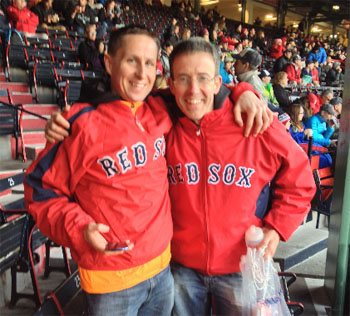 Alan & Vivian at the Red Sox game