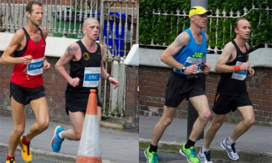 Impressive times in the marathon from Eric Browne (2:48) and Tony Cambridge (2:56)