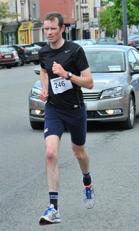 Ciaran Bouse...59:59 in the Castleisland 10 mile road race