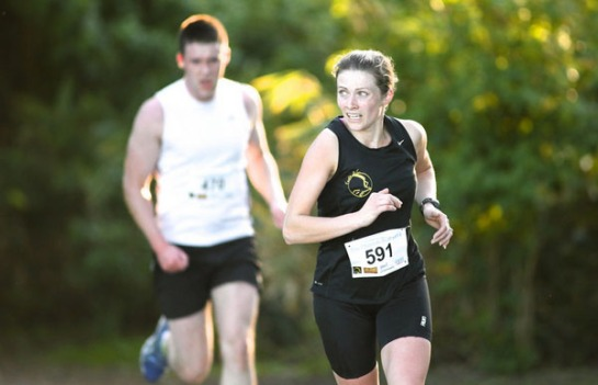 Deirdre Nagle of Eagle AC...3rd in the Fota Cheetah Run. Photo : Gearóid Ó Laoi