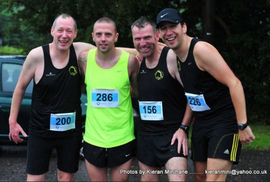 Ed Fitgerald, Eric Browne, Kieran Mulcahy & Tim McCarthy at the Midleton Run Half-Marathon