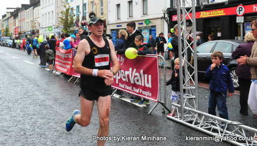 Mike McGrath finishing the Midleton Run 10k