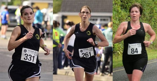 Silver medalists in the Munster Half-Marathon Championships...Sandra Manning, Elaine Guinane & Adelle O'Connor