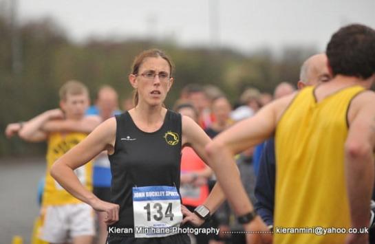 Elaine Guinane...winner of the 2014 Deirdre O'Reilly 5k race in Bandon