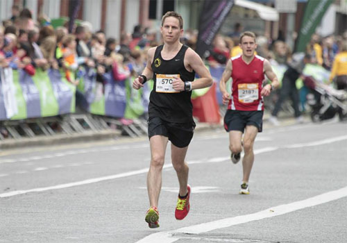 Alan O'Brien...2:46 in the Dublin Marathon
