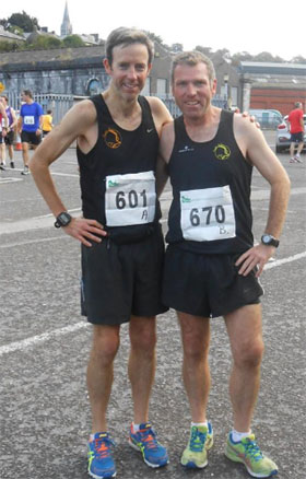 Vivian Foley & Kieran Mulcahy at the Cork to Cobh race