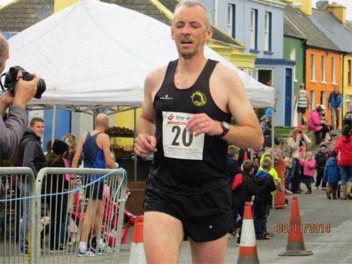 Mark Gallagher...one of the organisers of the Eyeries 5 mile