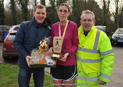 Elaine Guinane after winning the Carrigaline 10k
