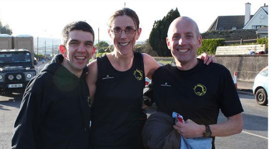 Post race...Gearoid O'Leary, Elaine Guinane & Ruairi Egan