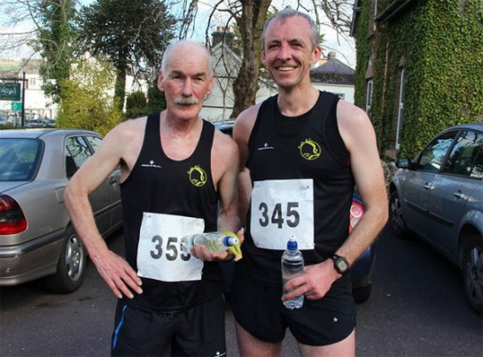 Joe Murphy and Mark Gallagher at the Kenmare Bridge 10k