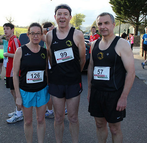 Deirdre O'Callaghan, Paul Cotter & Eddie Byrne before the race