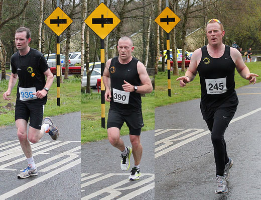 Ciarán Bouse, Shane O'Shaughnessy & John McCarthy in the 10 mile