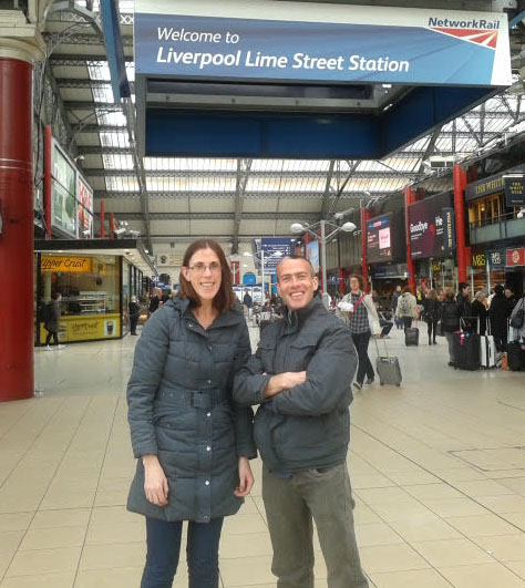 Elaien & Denis at Lime St. Station