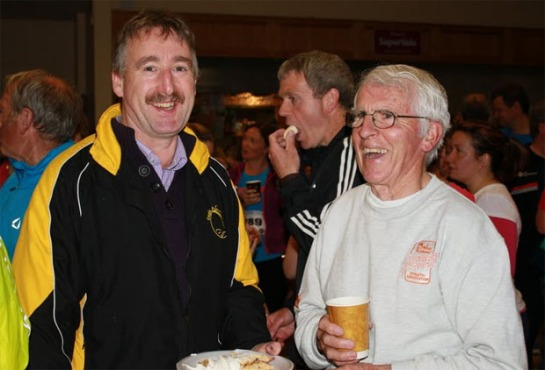 Mick Dooley with Kevin Cummins of the Cork BHAA post race