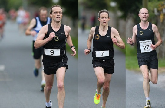 First 3 Eagle members across the line...John O'Callaghan, Vivian Foley & Paul Cotter. Photo: Gearóid Ó Laoi