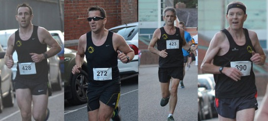 Damian Kenneally, Tim McCarthy, Gerard Down & Paul Cotter at the recent Cobh 4 mile race