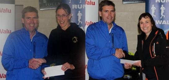 Elaine Guinane 3rd F35 and Frances O'Connor 2nd F55