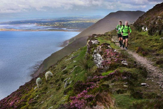 Charlie Byrd running along, Drung Hill, at Mountain Stage, on the Iveragh Peninsula, Co Kerry. Photo:Valerie O'Sullivan