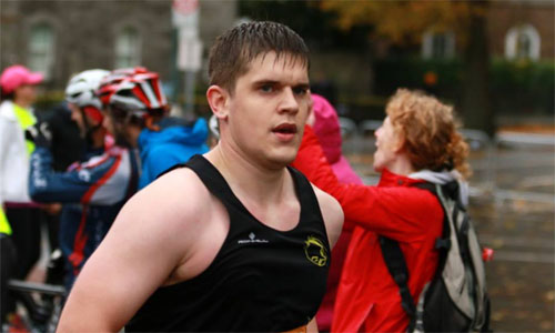 3:58 for Cathal Twomey in his first marathon