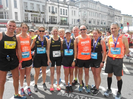 marathon Pacers group pic finish
